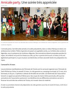 Le Télégramme 03 mars 2015