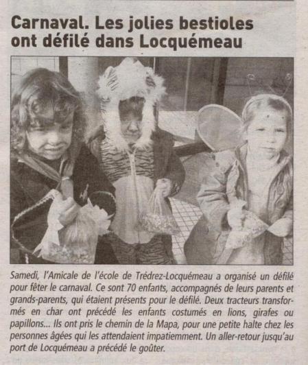 Le télégramme 23 février 2009