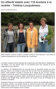Ouest France 05 septembre 2013