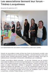 Ouest France 08 septembre 2013