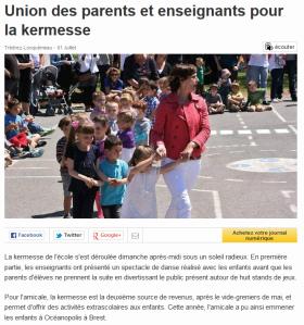 Ouest France 1er juillet 2014