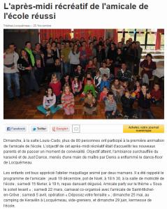 Ouest France 20 novembre