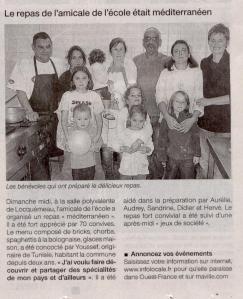 Ouest France 20 octobre 2009