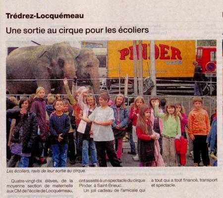 Ouest France 29 octobre 2008