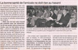 Ouest France 29 septembre 2014