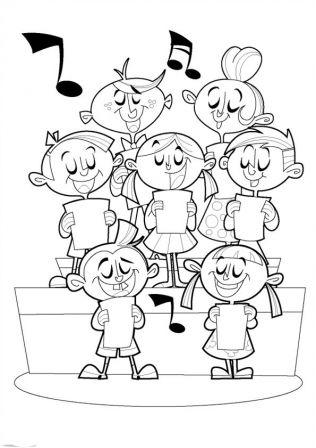 Coloriage Kermesse Ecole.Vh Ensemble Toute Une Ecole Qui Chante