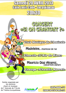 affiche si on chantait 2013