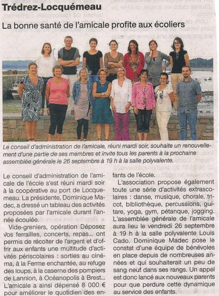 Ouest France 18 septembre 2014