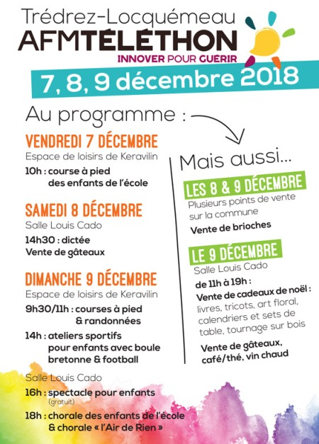 Téléthon 2018 : le programme à Trédrez Locquémeau